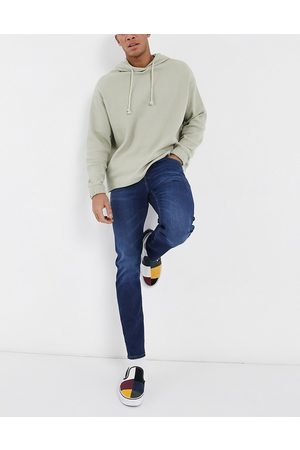 ASOS Stretch slim jeans in dark wash blue-Blues