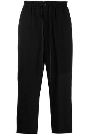 THE VIRIDI-ANNE Men Wide Leg Pants - Wool-blend wide cropped trousers