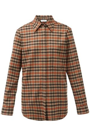 GABRIELA HEARST Marcello Checked Cashmere Shirt - Womens - Multi