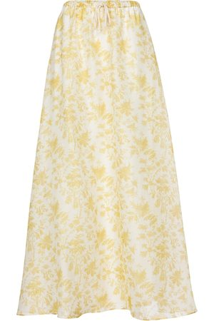 SIR Women Maxi Skirts - Clementine cotton and silk maxi skirt
