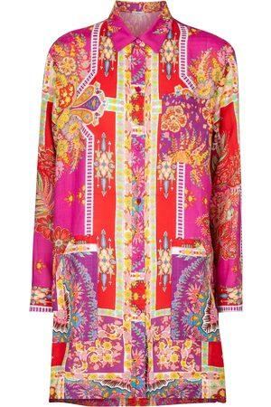 Etro Printed ramie shirt