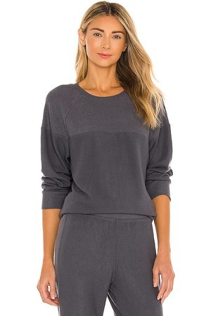 Eberjey Cozy Time Sweatshirt in Grey.