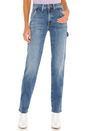 Mother High Waisted Utility in Blue.