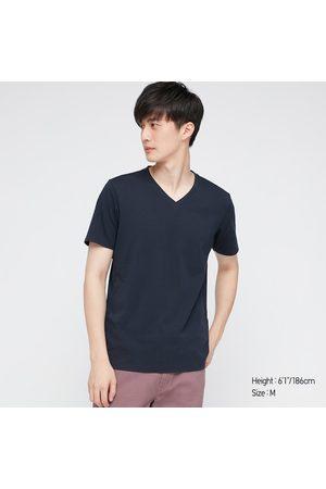 UNIQLO Men Short Sleeve - Men's Supima- Cotton V-Neck Short-Sleeve T-Shirt, , M