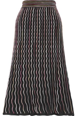 M Missoni Woman Pleated Crochet-knit Cotton-blend Midi Skirt Size 38
