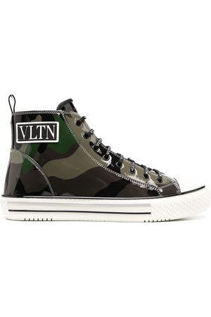 VALENTINO GARAVANI Men Sneakers - Giggies camouflage high-top sneakers