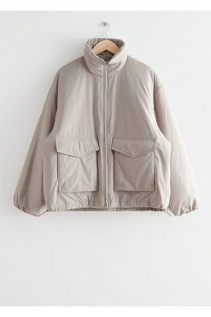 & OTHER STORIES Boxy Padded High Collar Jacket