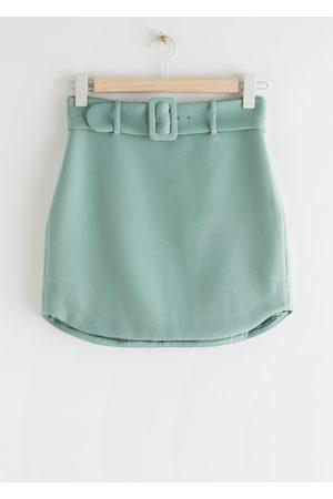& OTHER STORIES Women Mini Skirts - Buckle Belt Mini Skirt