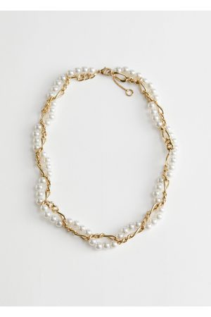 & OTHER STORIES Twisted Pearl Chain Necklace