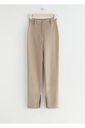 & OTHER STORIES Slim High Waist Slit Trousers