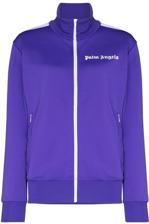 Palm Angels Logo-print zip-up track jacket
