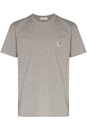 Maison Kitsuné Fox-patch crew-neck T-shirt - Grey