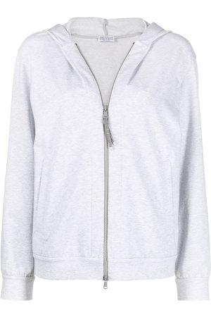Brunello Cucinelli Zipped hoodie - Grey