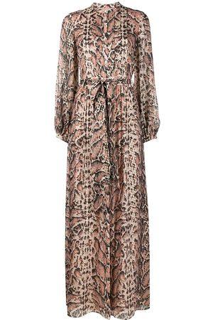 TEMPERLEY LONDON Women Printed Dresses - Ocelot-print long dress