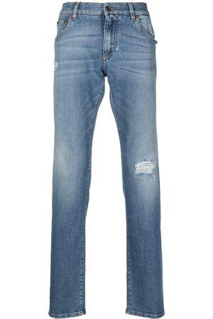 Dolce & Gabbana Men Straight - Straight-leg cotton jeans