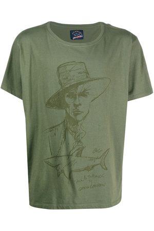 GREG LAUREN Graphic print cotton T-shirt