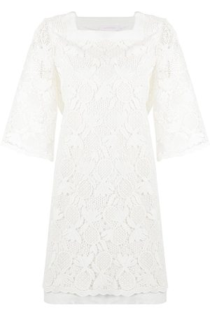 See by Chloé Pineapple-knit shift dress