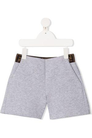 Fendi Logo waistband shorts - Grey