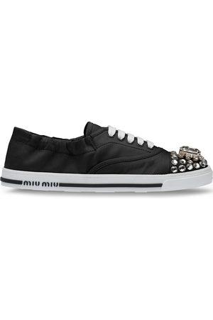 Miu Miu Crystal embellished low-top sneakers
