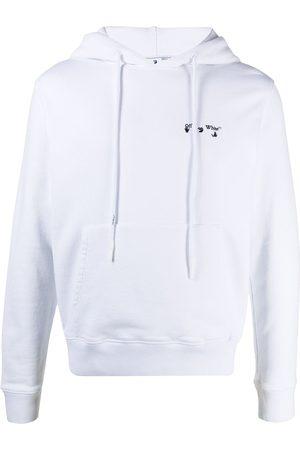 OFF-WHITE Logo print drawstring hoodie