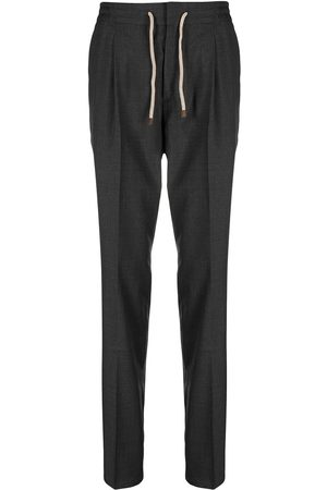 Brunello Cucinelli Straight leg wool trousers - Grey