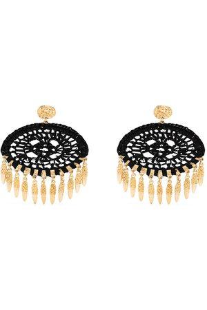 Gas Bijoux Fanfan raffia earrings