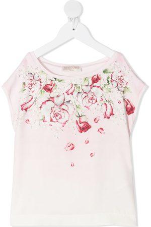 MONNALISA Floral-print sleeveless blouse