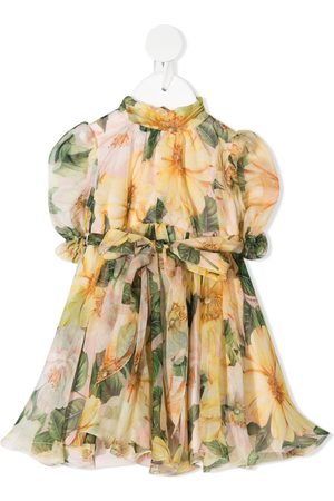 Dolce & Gabbana Pleated floral silk dress
