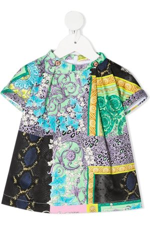 VERSACE Baby Casual Dresses - Mixed-print dress