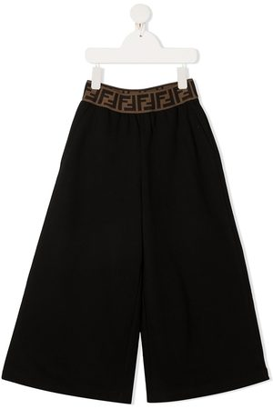Fendi Girls Wide Leg Pants - Wide-leg trousers