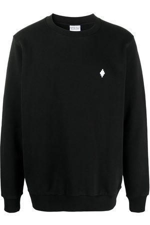 MARCELO BURLON Embroidered-logo long-sleeve jumper