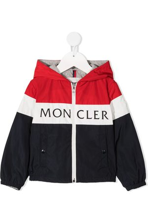 Moncler Bomber Jackets - Striped logo-print jacket
