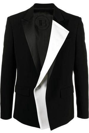 Balmain Layered-effect dinner blazer - EAB NOIR