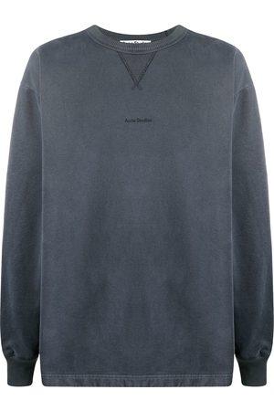 adidas Logo-print crew neck sweatshirt - Grey