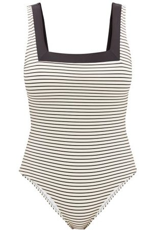 Casa Raki Marina Square-neck Two-tone Swimsuit - Womens - Stripe