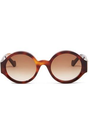 Loewe Women Round - Story Round Tortoiseshell-acetate Sunglasses - Womens - Tortoiseshell