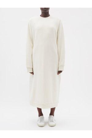 Raey Women Sweatshirts - Recycled-yarn Cotton-blend Sweatshirt Dress - Womens - Ivory