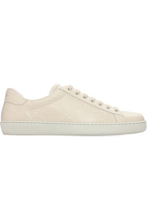 Gucci Men Sneakers - 15mm Gg New Ace Leather Sneakers