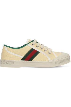 Gucci Girls Sneakers - Canvas Sneakers W/ Web Details