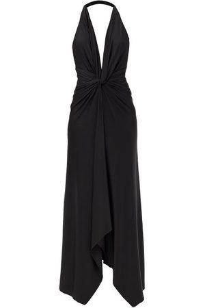 ALEXANDRE VAUTHIER Plunge-neck Gathered Jersey Midi Dress - Womens