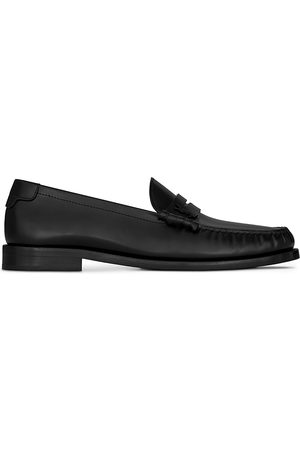 Saint Laurent Men's Le Loafer Moc Toe Penny Loafers
