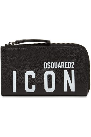 Dsquared2 Grained Leather Logo Compact Wallet