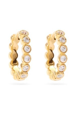 THEODORA WARRE Women Earrings - Crystal & -plated Sterling-silver Hoops - Womens