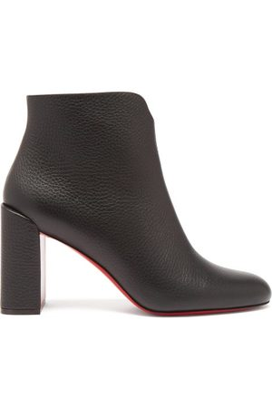 Christian Louboutin Women Ankle Boots - Castarika 85 Block-heel Leather Ankle Boots - Womens