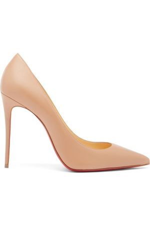 Christian Louboutin Women Heels - Kate 100 Leather Pumps - Womens - Nude