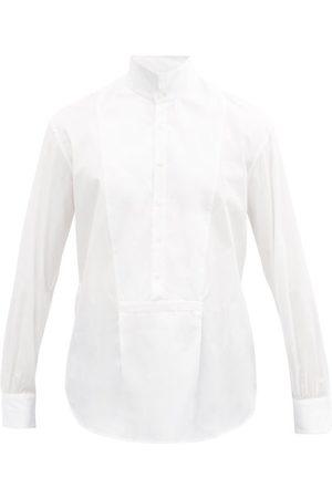 Bourrienne Paris X Bal High-collar Cotton-poplin Bib Shirt - Mens