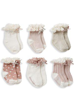 Elegant Baby Baby Girl's 6-Pack Frill Socks