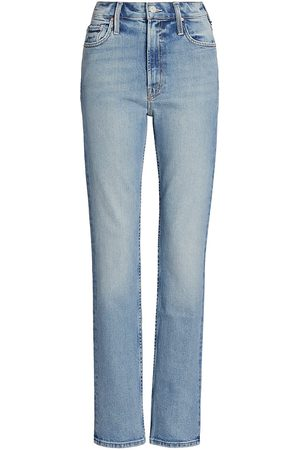 Mother Women's Rider High-Rise Straight Jeans - - Size 31 (10)