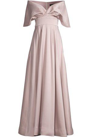 Aidan Mattox Women's Off-The-Shoulder Cape Gown - - Size 14