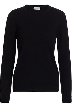 Brunello Cucinelli Women's Cashmere Basic Crewneck Sweater - - Size Large